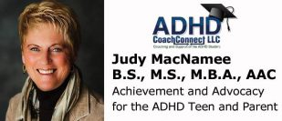 Judy A. MacNamee - ADHD/Executive Function Coach Teen and Adult