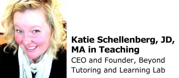 Katie Schellenberg, JD, MA in Teaching BeyondTutoring.com